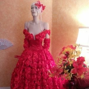 Scarlet Rose East Indian Inspired Wedding Ballgown